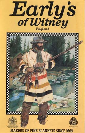 ff369d6b43 1970s advertising sign from Early s showing a hunter wearing a capote coat  made from a point