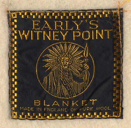 0e055f914a Early s Witney Point blanket label showing the Native American symbol they  adopted for their point blankets